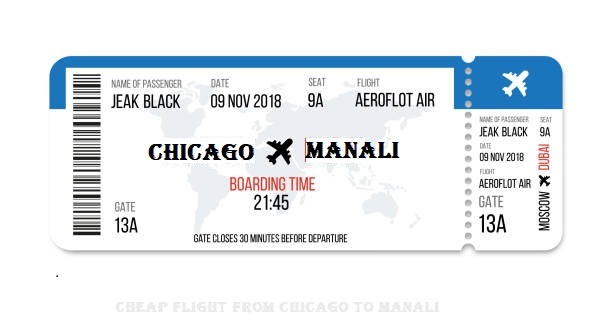 Cheap Flight from Chicago to Manali